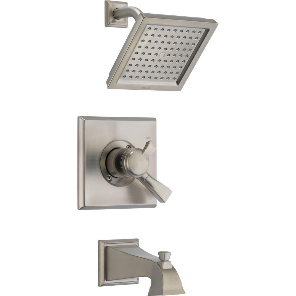 Delta Dryden 1 Handle Tub And Shower Faucet Trim Kit In Stainless