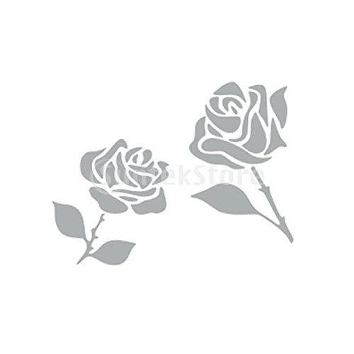 Pochoir de Peinture Murale Motif 2 Roses Maison Art Décoration