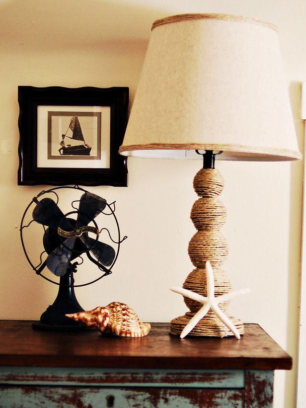 How To Make A Nautical Themed Lamp Diy Lamp Nautical Diy Nautical Lamps