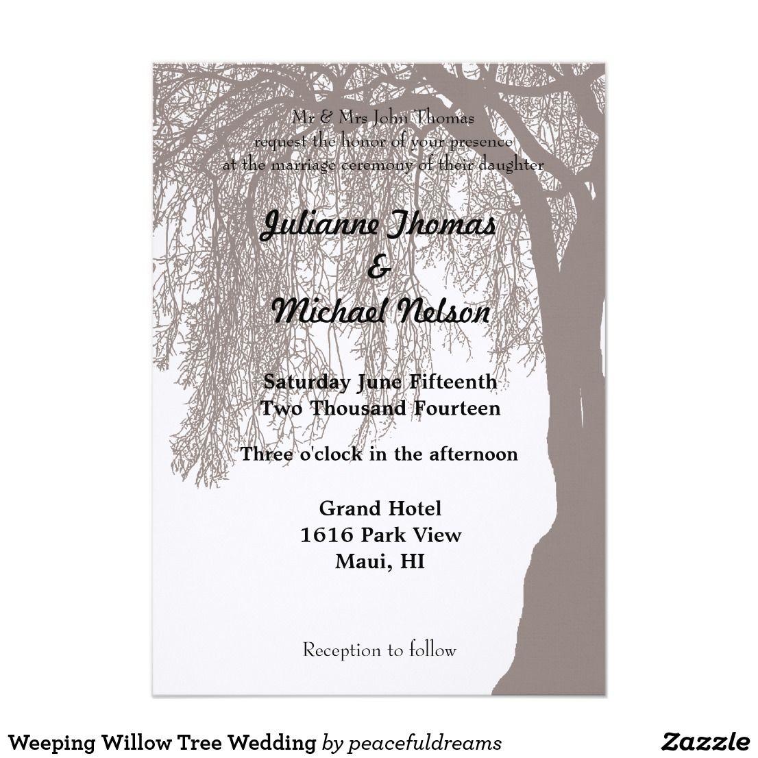 12+ Willow tree wedding invitation ideas