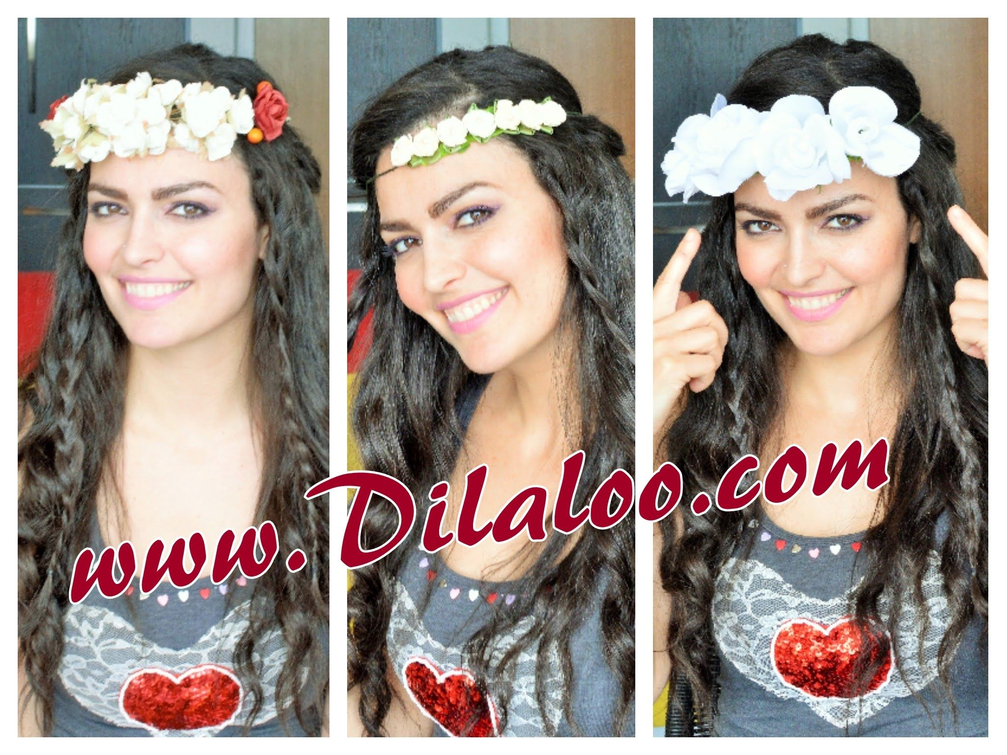 Easy boho hairstyle perfect to style with a floral crown rock it in
