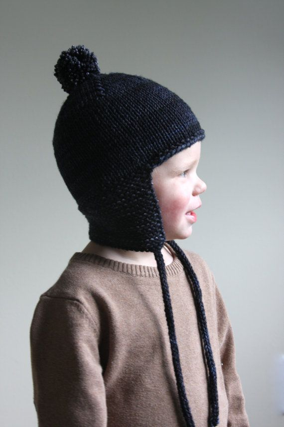 KNITTING PATTERN PDF File - Toddler Knit Hat Pattern - Toddler ...