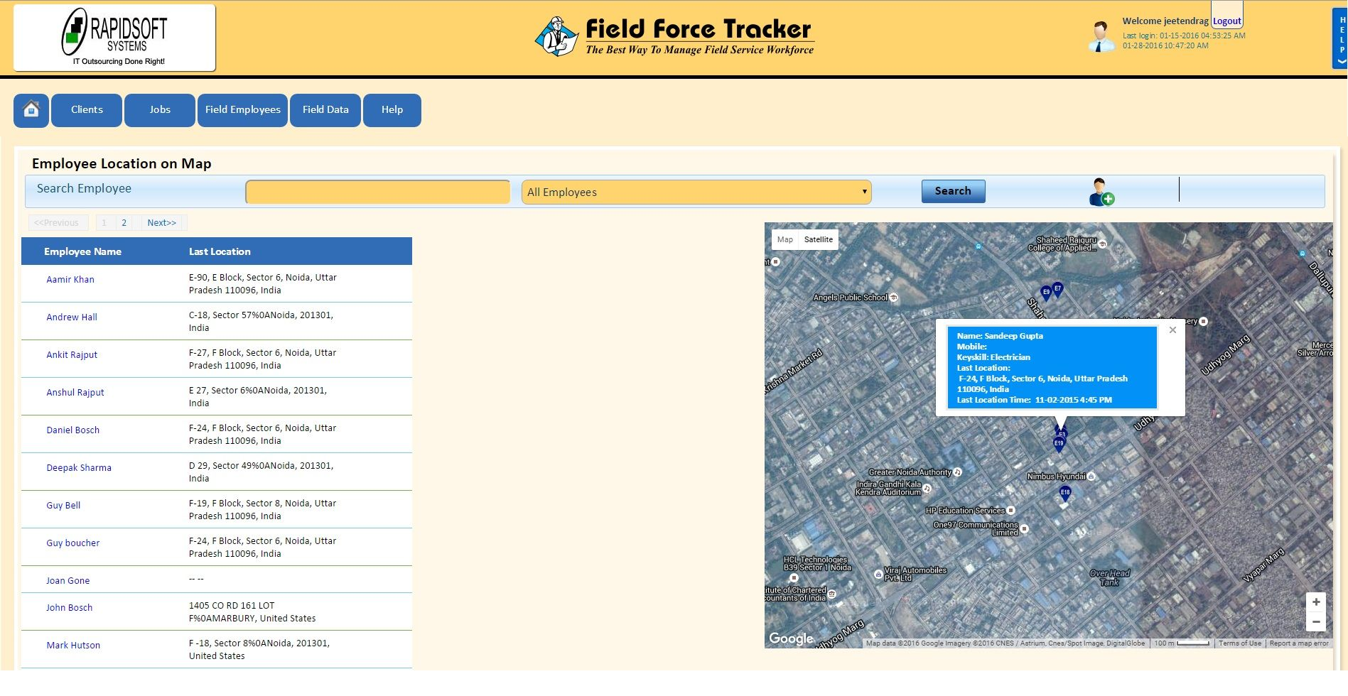 Field Force Tracker Is Web Based With To Access Mobility Field