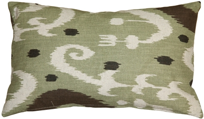 Indah Ikat Green 12x20 Throw Pillow From Pillow Decor Throw Pillows Throw Pillow Etsy Green Throw Pillows
