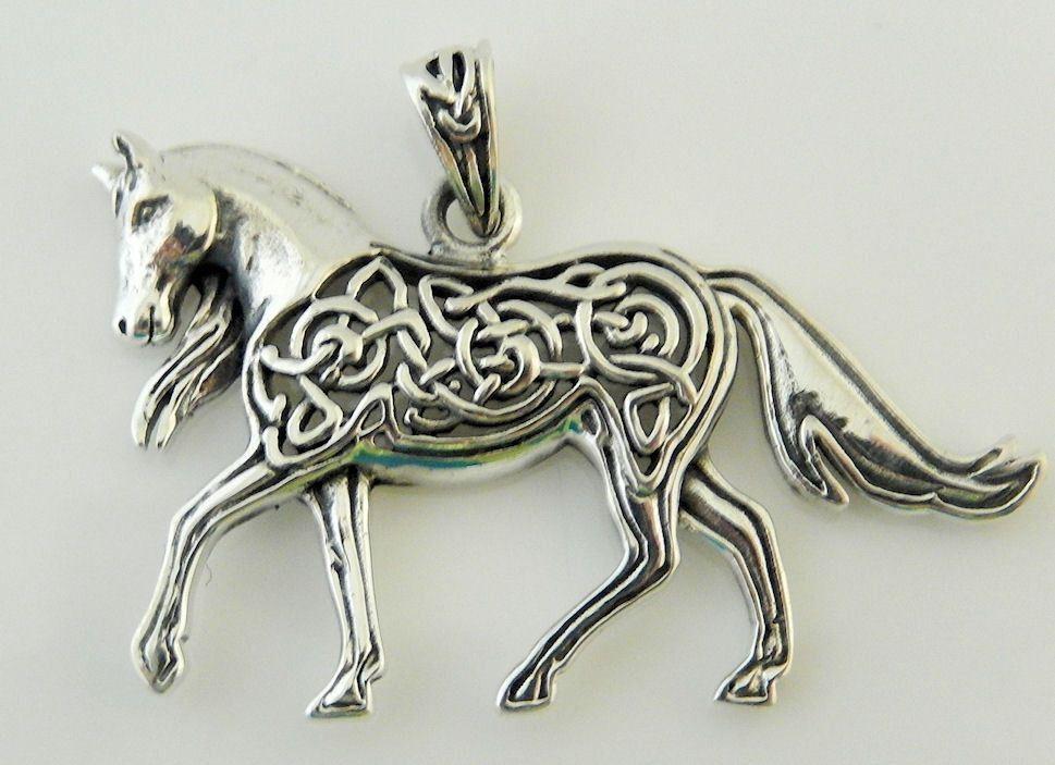 Celtic epona horse sterling silver pendant single horse equine celtic epona horse sterling silver pendant single horse equine goddess amulet aloadofball Images