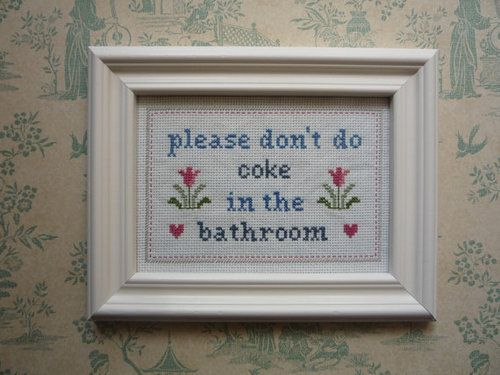 Bathroom Signs Tumblr cross stitch | tumblr | funny | pinterest | cross stitch, stitch