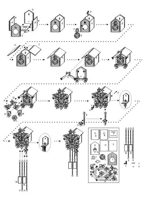Miniature Cuckoo Clock laser kit by MiniaturasMyE on Etsy