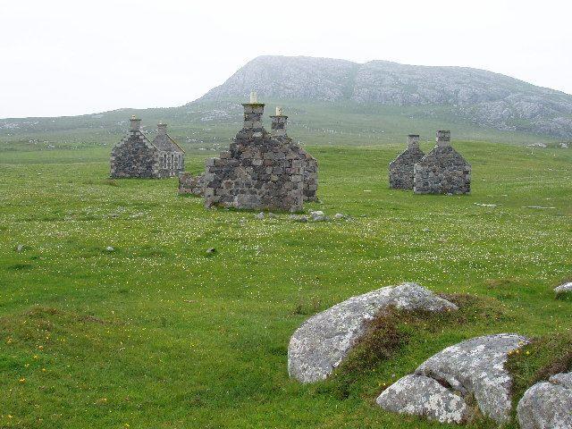 Abandoned village at Eorasdail on Vatersay