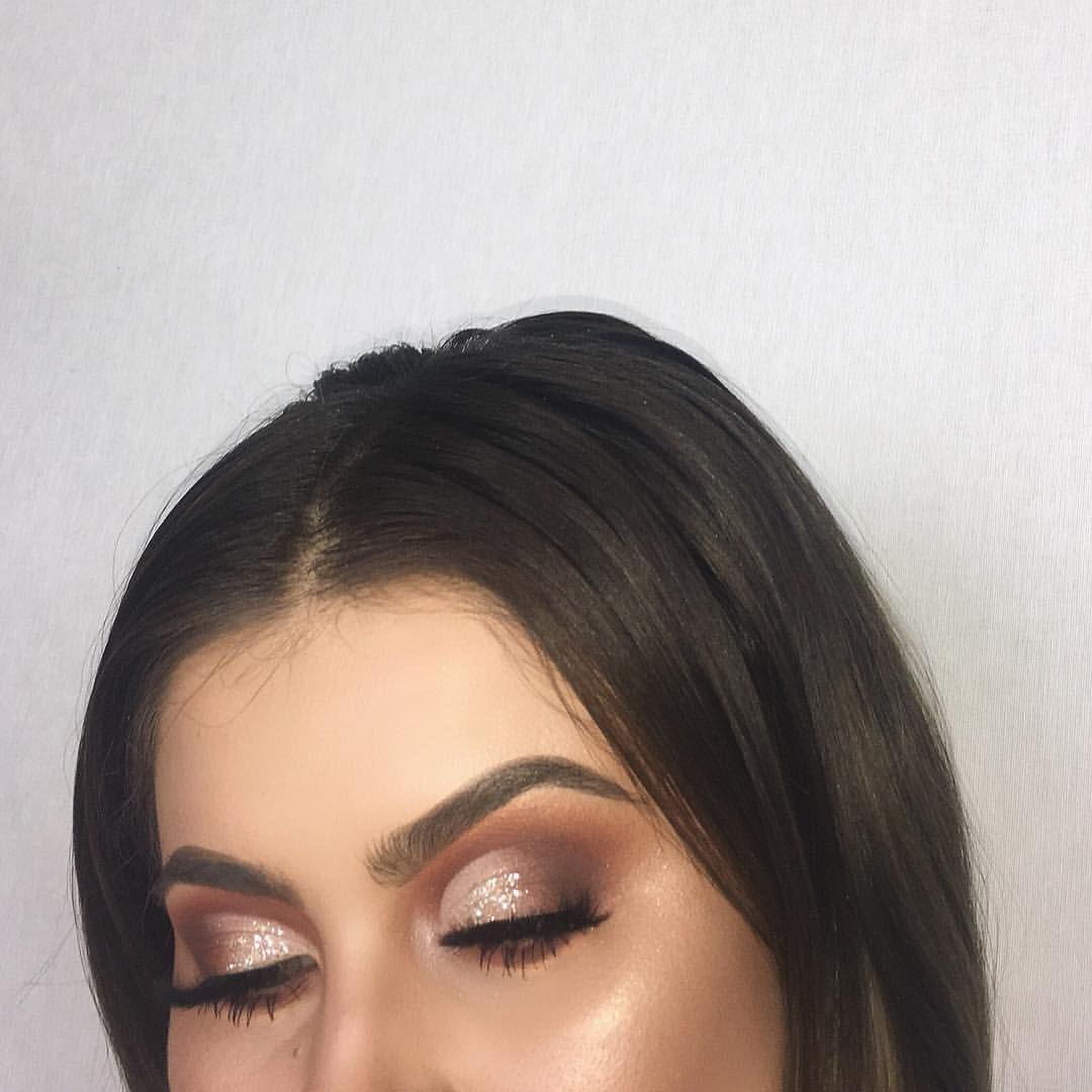 """JAMIE GENEVIEVE on Instagram: """"You asked for it! A tutorial for my half cut crease is live on my channel. Thank you guys so much for all the love on this look, click the link in my bio to watch and subscribe. We're so close to 300K over on the tube! ❤ . @anastasiabeverlyhills modern renaissance palette @anastasiabeverlyhills med brown dip brow @tartecosmetics shape tape @lasplashcosmetics pina colada glitter @maccosmetics reflects gold glitter @lillylashes in mykonos @beccacosmetics op..."""