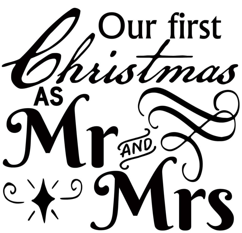 Free Mr and Mrs First Christmas SVG The Crafty Crafter