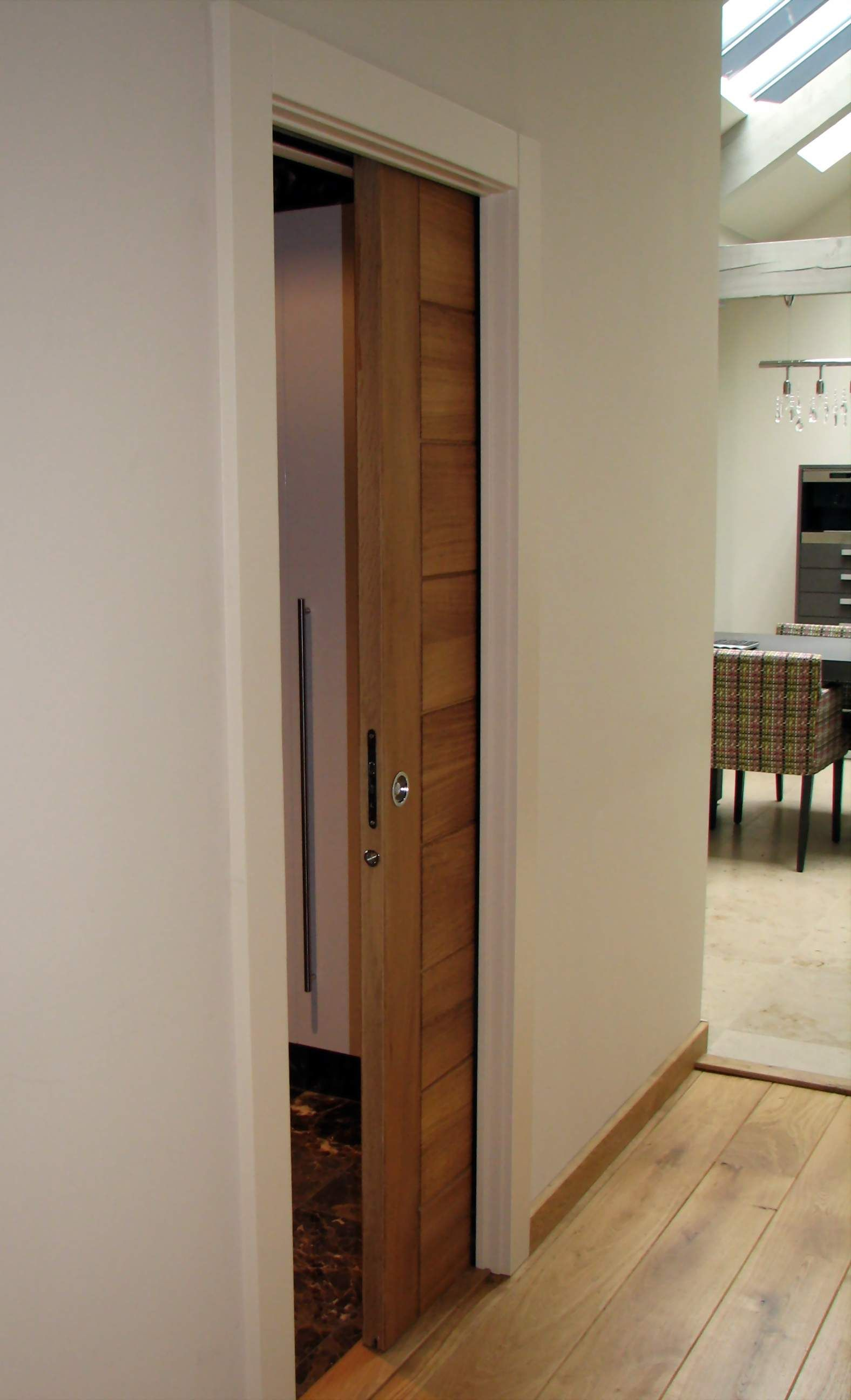 How to install a sliding bathroom door - Find This Pin And More On Versatility Of Sliding Barn Doors Single Eclisse Pocket Door Installed