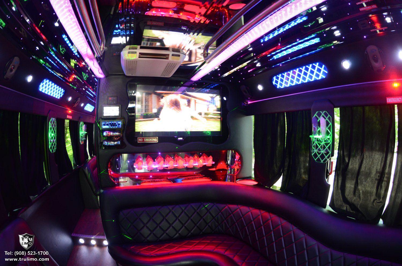 42 Passenger (NJ) Party Bus Interior