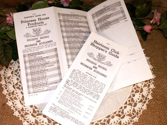 pinterest princess house 70s princess house suggested price list collectables vintage
