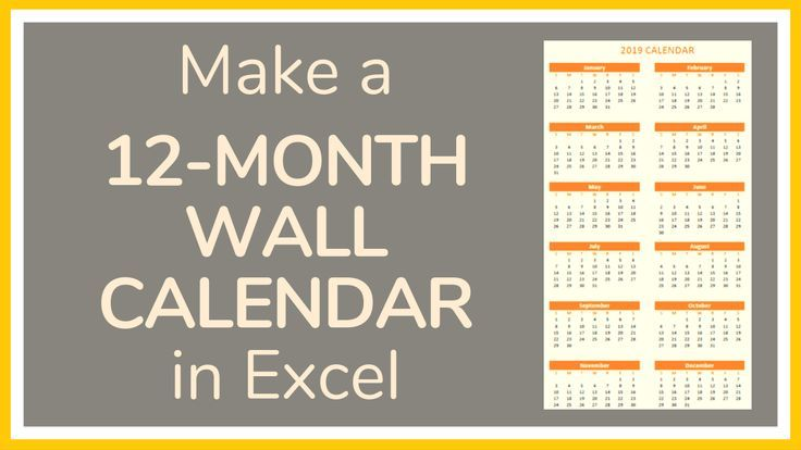 Excel tutorial on how to make a 12-month wall calendar in ...