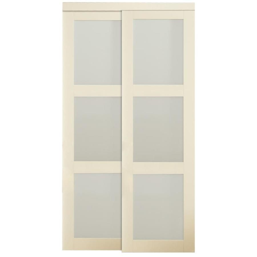 Charmant Reliabilt Off White Frosted Glass Mdf Sliding Closet Interior Door With  Hardware (Common: 60 In X 80 In; Actual: 60 In X