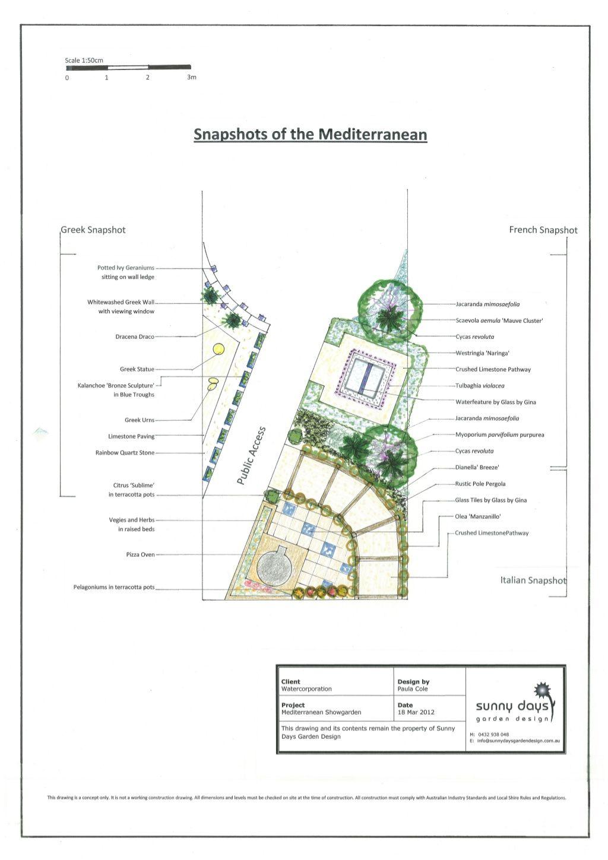 Design A Waterwise Garden Mediterranean Garden Design Australia