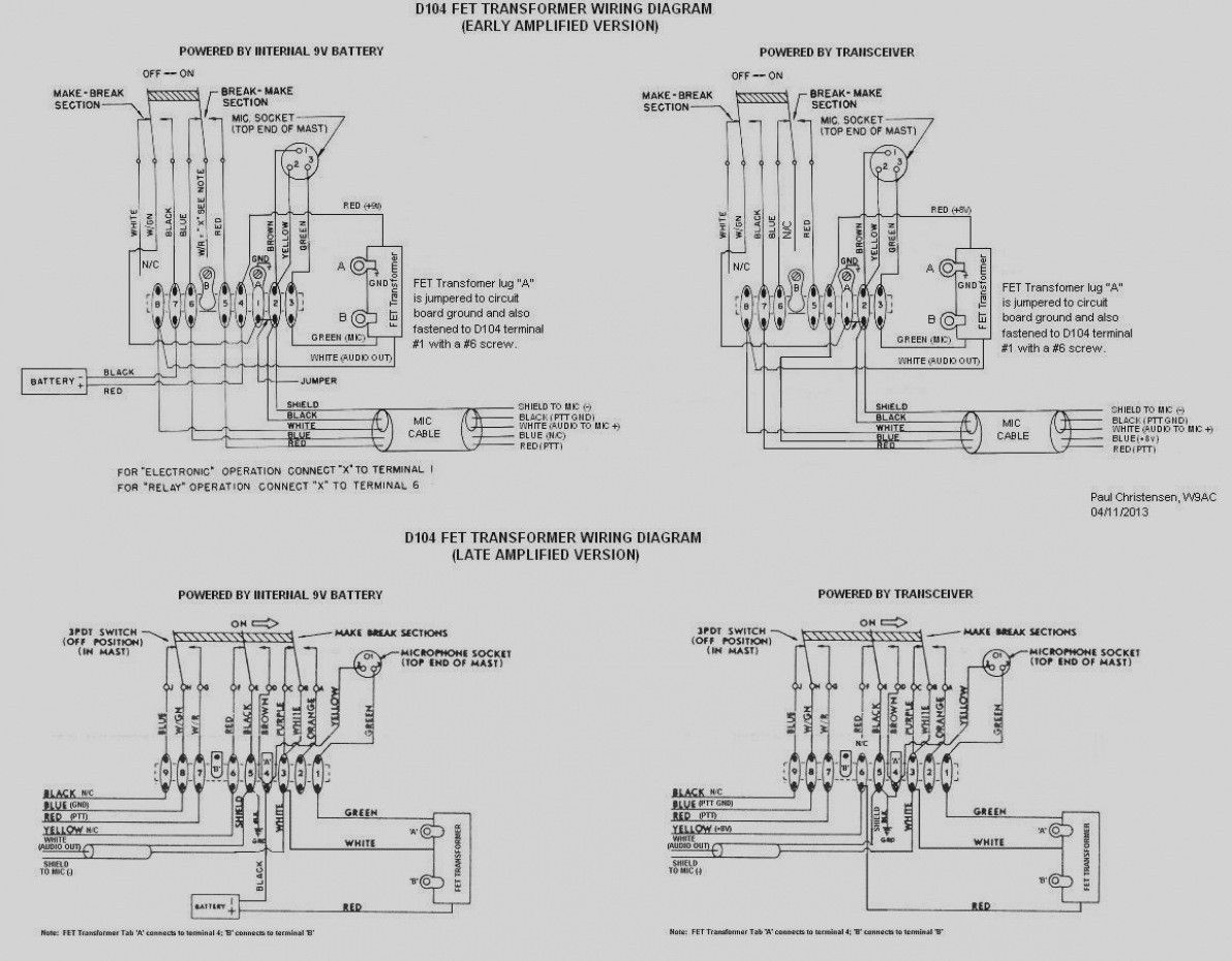 D104 Microphone Wiring Diagram D104 ... | My old radio Shop ... on