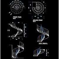 escalier helicoidal metallique dwg