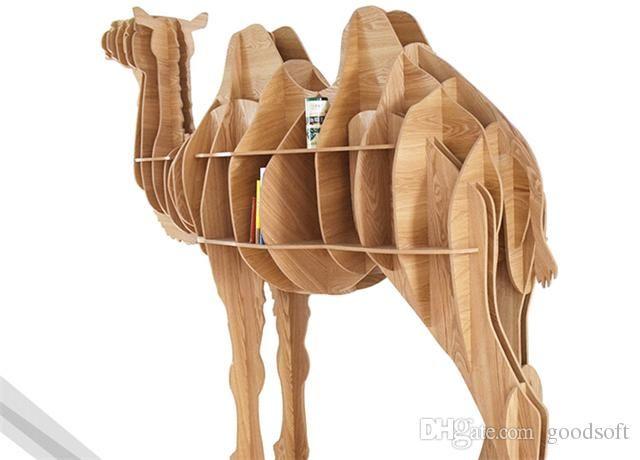 wood great camel bookshelf bookcase bookshelf nordic style model room animal shapes shaped nordic stylebook nooksshelf