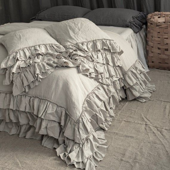 Linen Duvet Cover Set French Style, Flax Linen Bedding Manufacturers In India