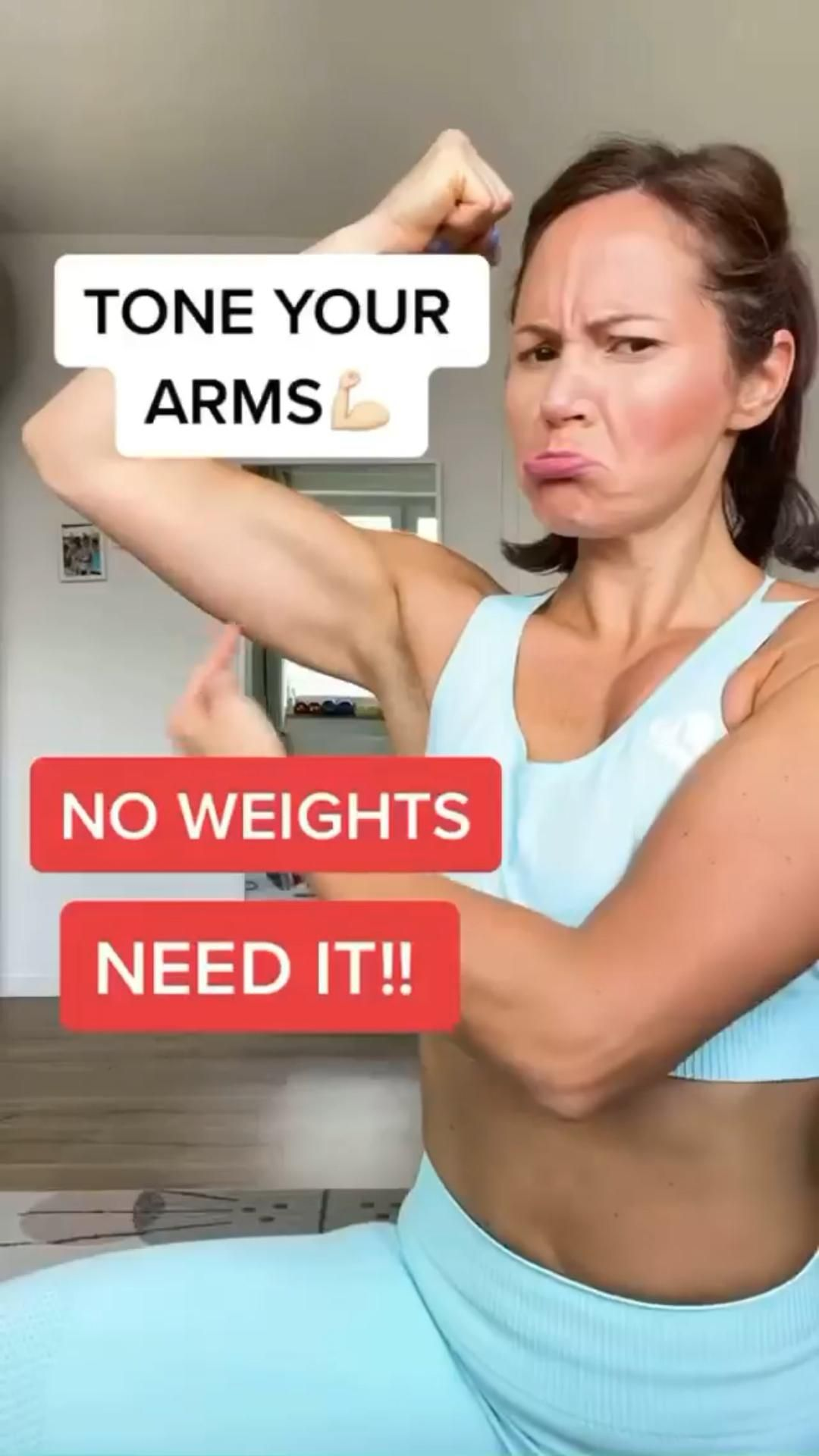 TONE YOUR ARMS!💪 NO WEIGHTS NEEDED!