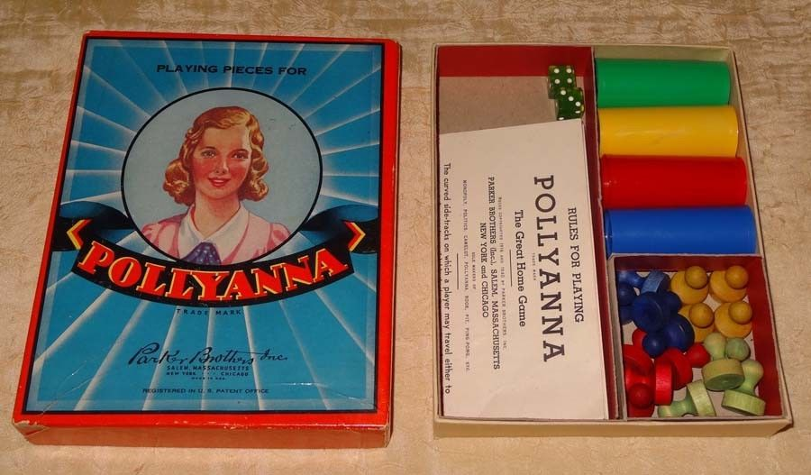 Vtg 1940s Pollyanna Board Game Parker Bros W Pieces Instructions Board Games Pollyanna Games
