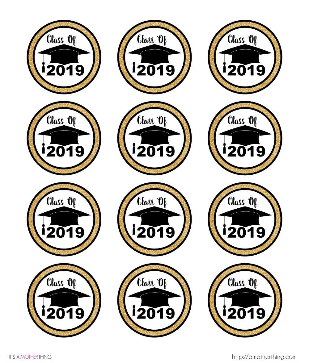 Congrats Grad Graduation Cap Seals Gift Party Favor Scrapbook Stickers Black