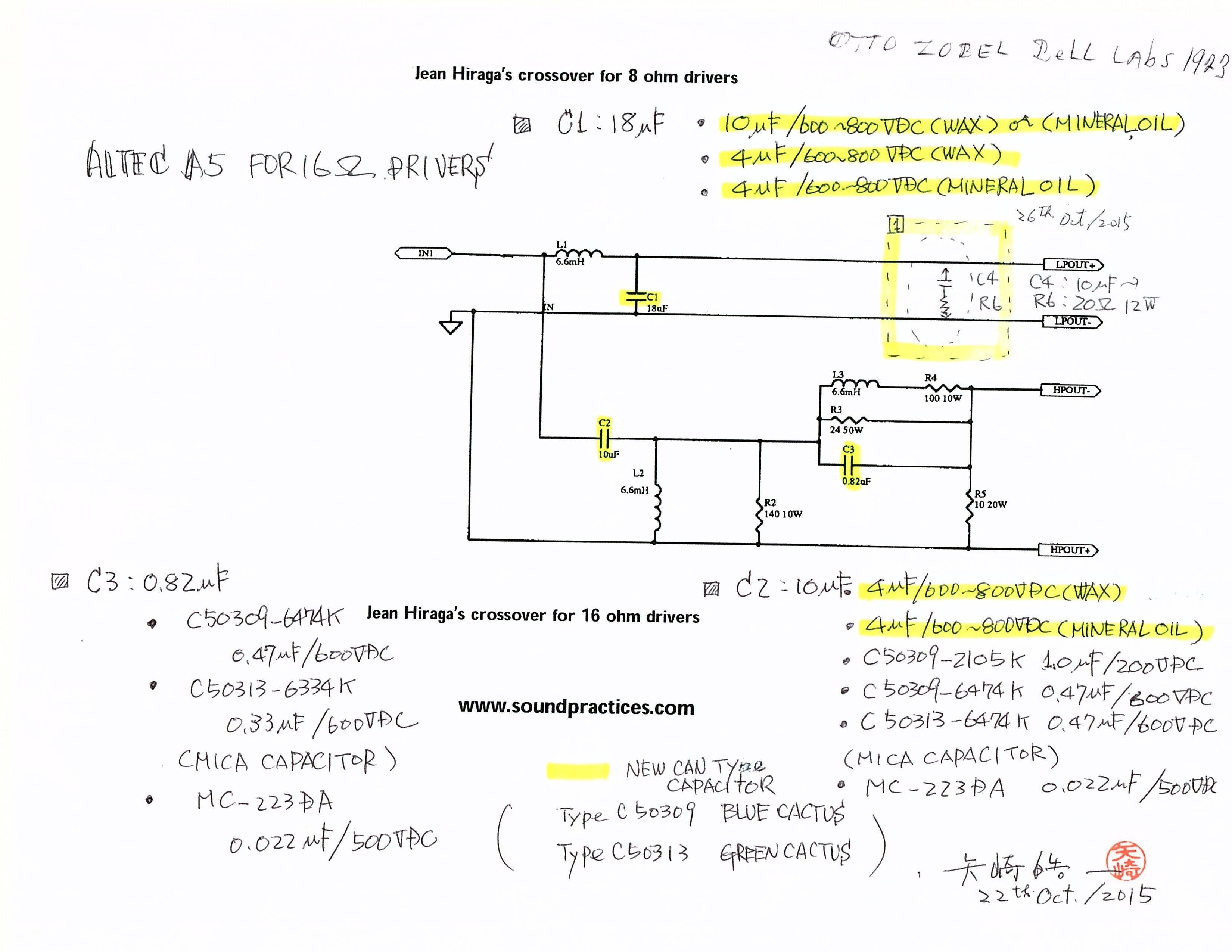A5 Crossover Circuit Diagram From Yazaki