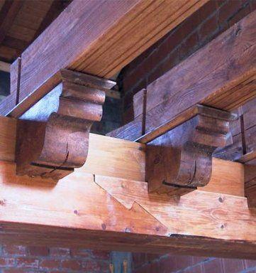 Truco para sujetar una viga de madera vigas de madera for Tejados madera vizcaya