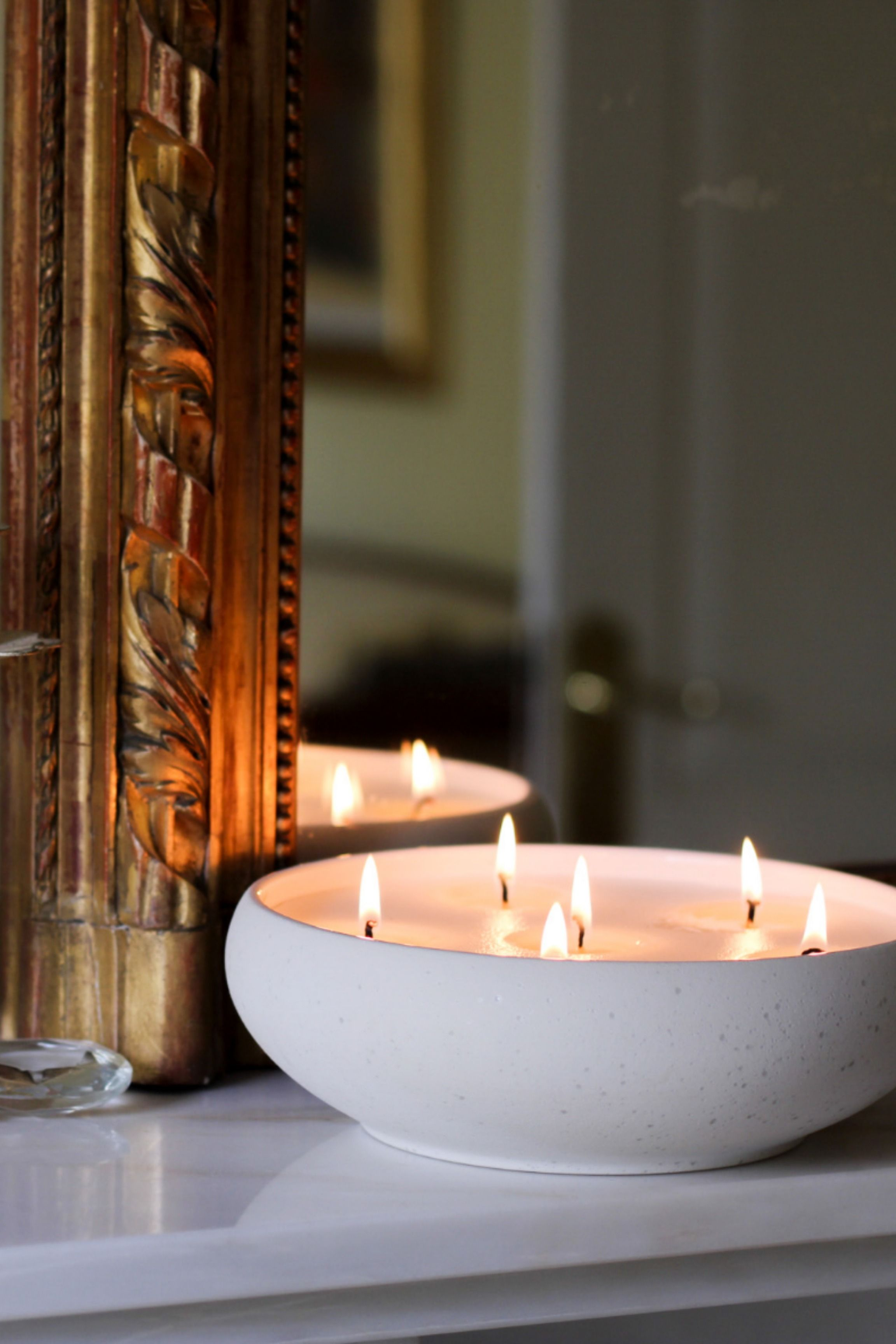 Photo of Cosy living – neutral candles for minimalist winter home.