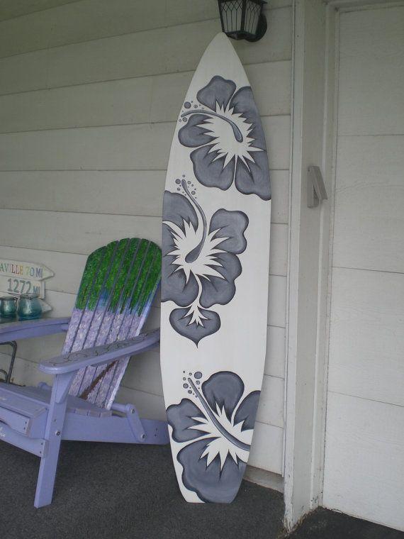 6 Foot Wood Hawaiian Surfboard Wall Art Decor or Headboard kids ...