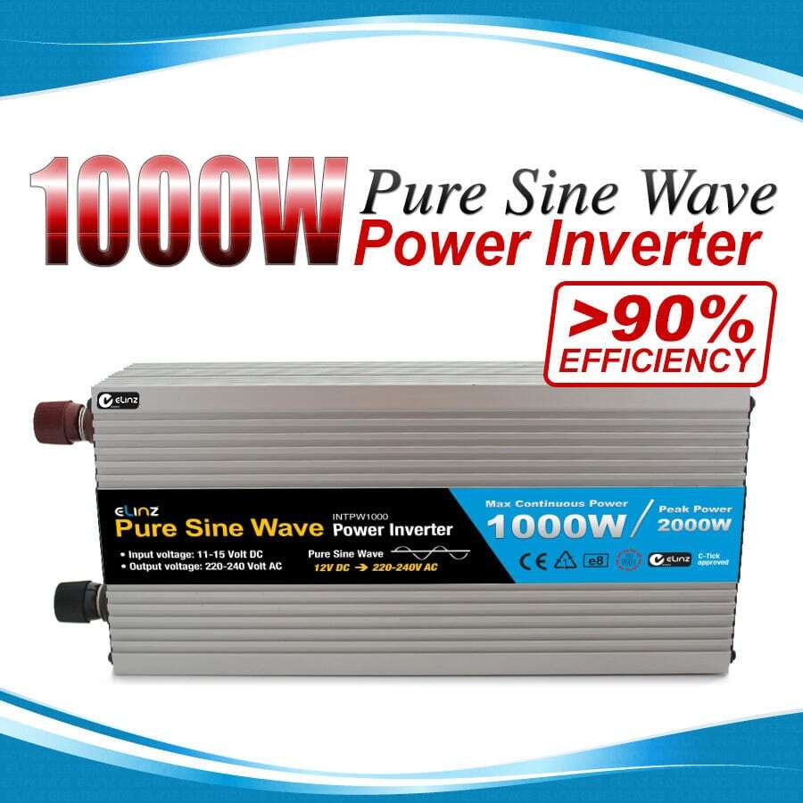 Pure Sine Wave Power Inverter 1000w 2000w 12v 240v AUS