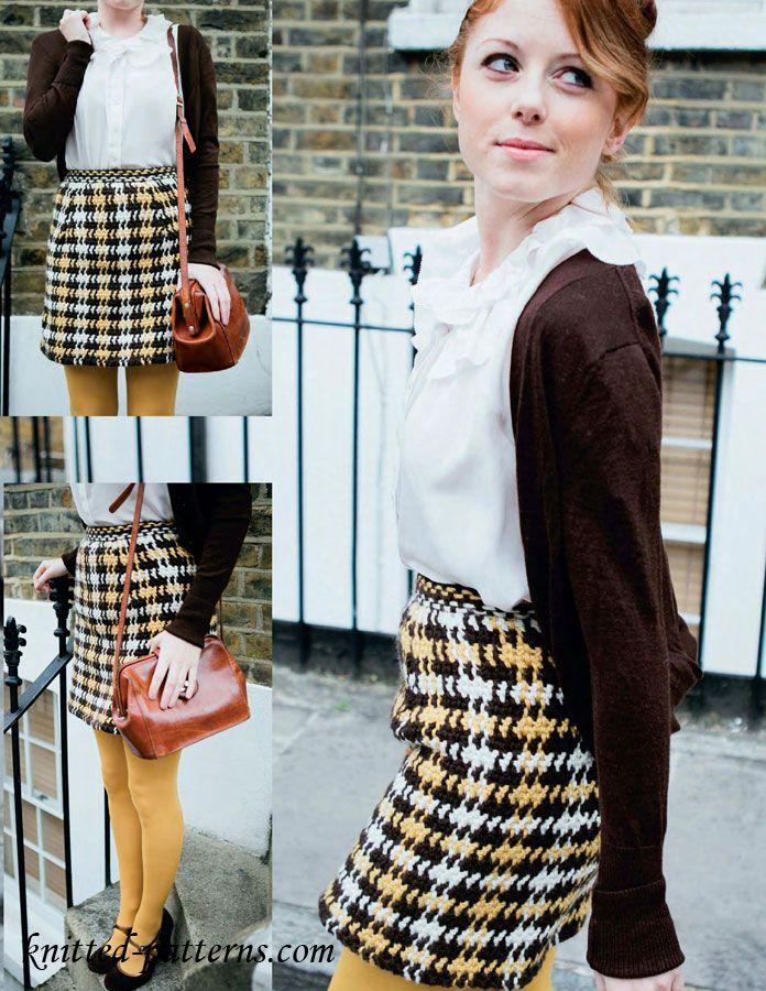 Crochet skirt free pattern | Crochet: Apparel | Pinterest | Falda ...