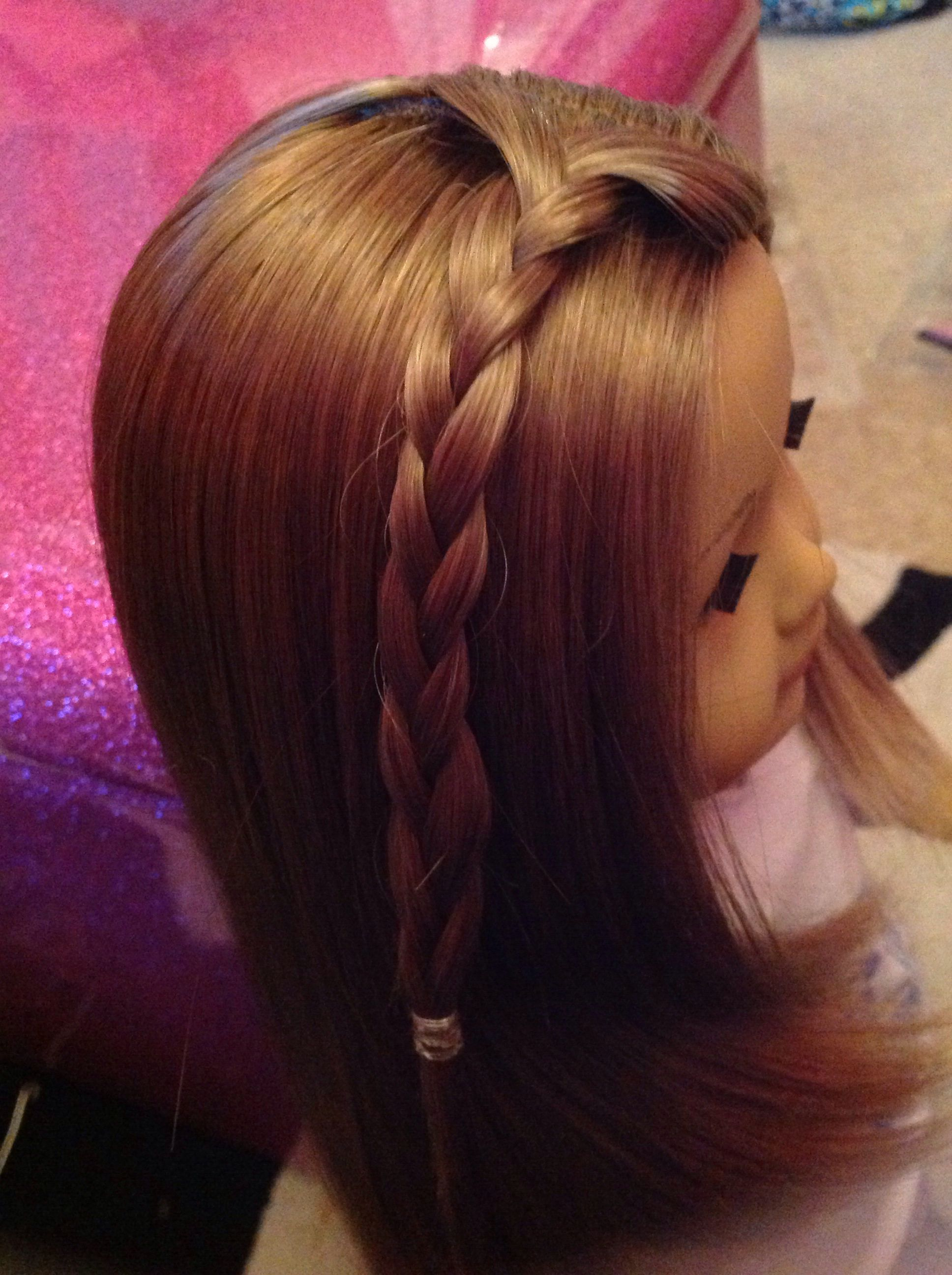 A side braid for american girl dolls with images side