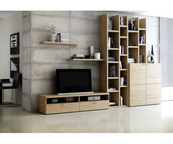 biblioth que avec meuble tv fur shelf paintings and. Black Bedroom Furniture Sets. Home Design Ideas