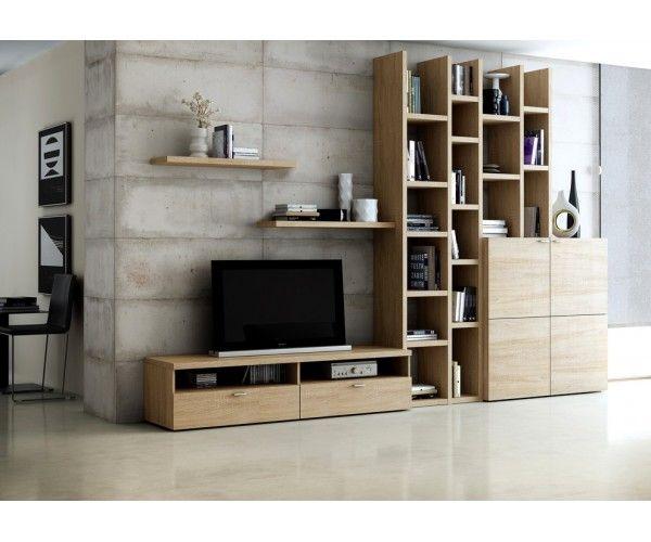 Bibliothèque Avec Meuble Tv Mobilier De Salon Meuble Tv