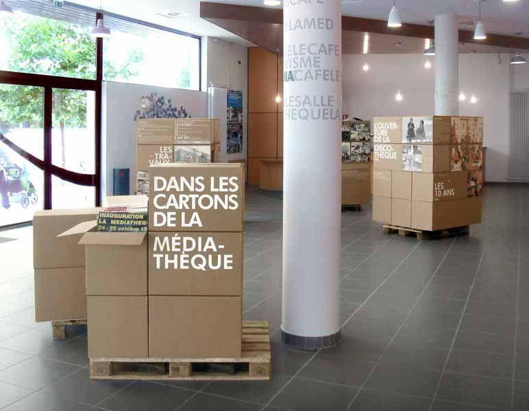 projet Dans les cartons de la médiathèque by l'air de rien