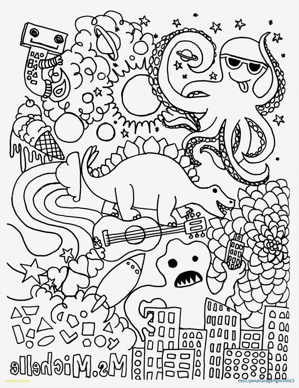 15 Hello Kitty Images Coloring Pages In