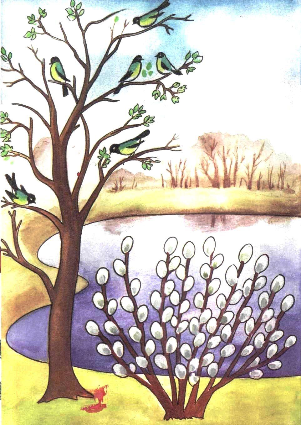 картинки для детей весна пришла   Рисунки, Раскраски ...