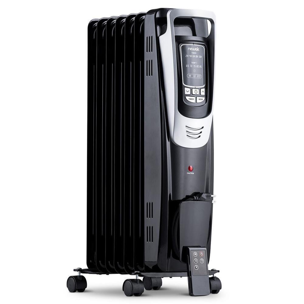 Newair Premium 1500 Watt Electric Oil Filled Smart Safety Compact