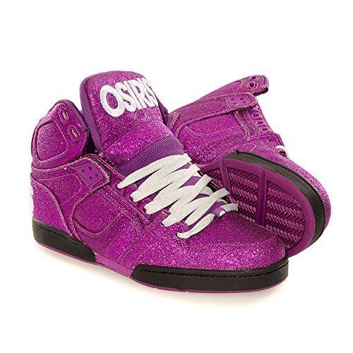 #SkateShoes #Osiris NYC 83 Glitz Boots #Purple #Sneakers #LOVE #BestShoesEVER!! www.StyleSista.ca was here!