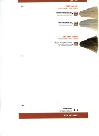 Wella Color Touch Demi Permanent Hair Color Color Swatch Charts