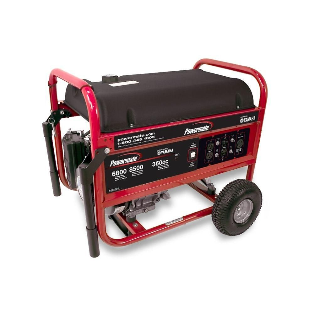 Powermate 6,800-Watt Portable Generator Electric Start Powered by Yamaha  Engine-PM0676800 at The