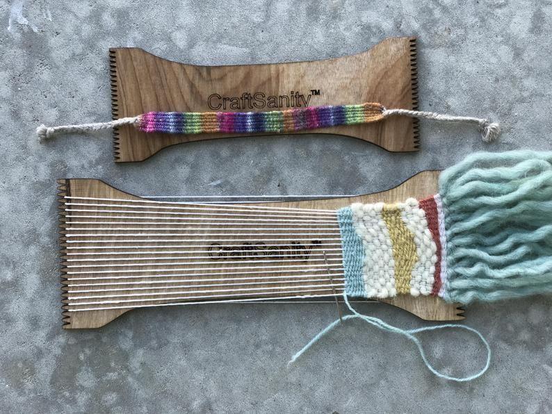 Craftsanity bracelet mini tapestry loom tapestry loom