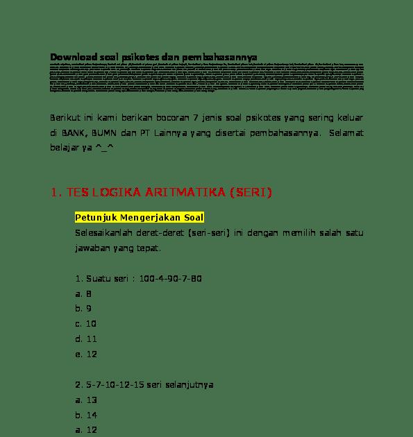 Pdf Downloadsoalpsikotesdanpembahasannya Silvira Friska Kumpulan Materi Pelajaran Dan Contoh Soal 5 Contoh Soal Pengalam Matematika Gambar Menggambar Orang