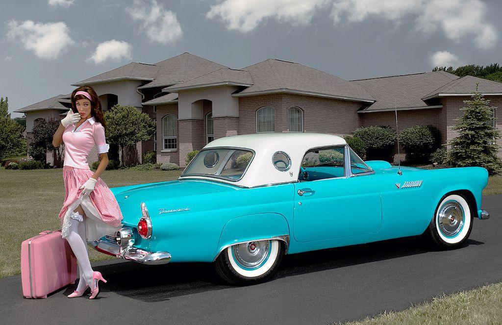 2coolcars 1955 Ford Thunderbird Pinups Pinterest Cars