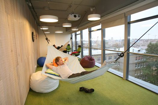 put a hammock inside google office in st petersburg work pinterest google office. Black Bedroom Furniture Sets. Home Design Ideas