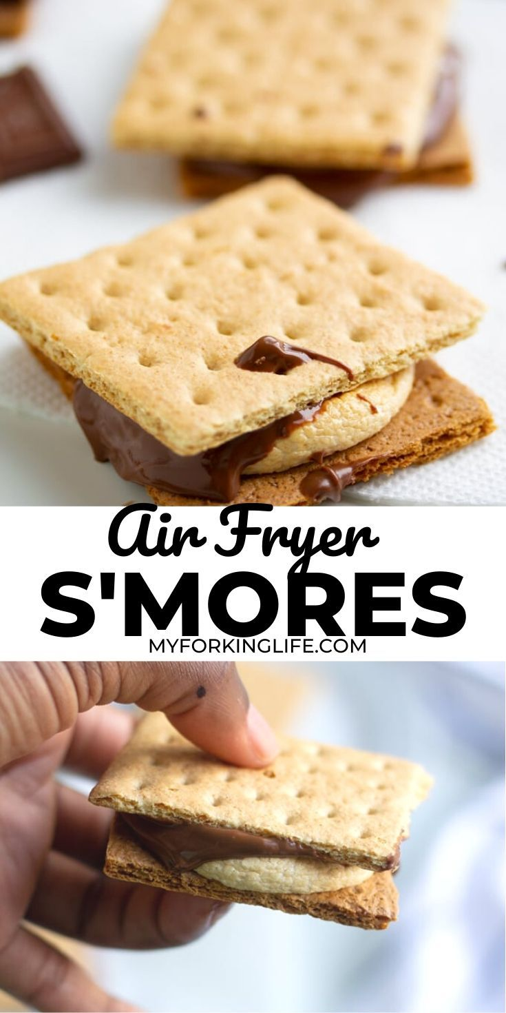 Air Fryer S'mores in 2020 Smore recipes, Dessert recipes