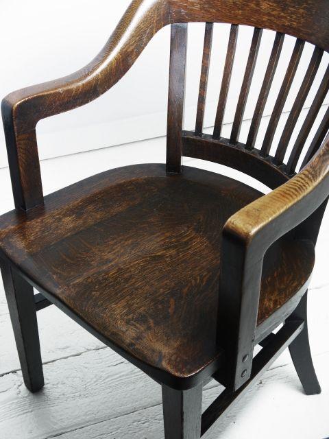 Classic 1920 S Oak Office Chair Solid Oak Desk Chair Solid