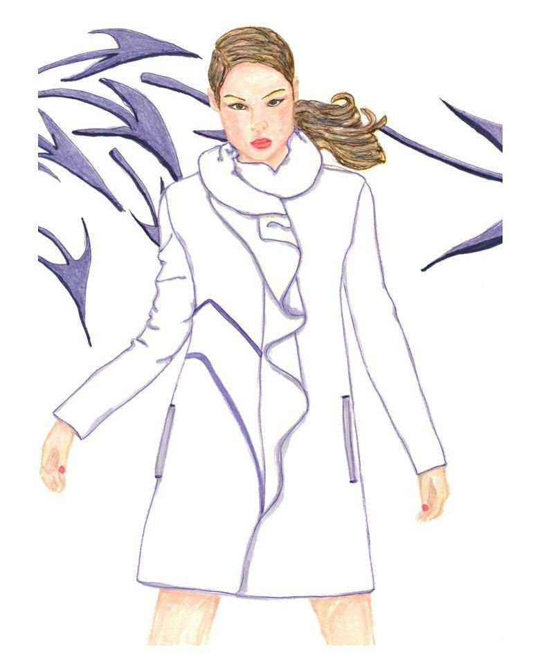 Fashion Illustration In the Wind by DCTDesigns on Etsy